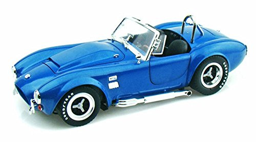 Shelby Super Snake - 1966 Shelby Cobra Super Snake Convertible, Blue - Shelby SC125 - 1/18 Scale Diecast Model Toy Car