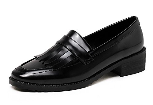 Sekoitus Pumput Musta Materiaaleja Päälle Neliön Alhaisen 42 kengät Vedettävä Naisten Toe Odomolor Selin Kiinteä qvCYq7w