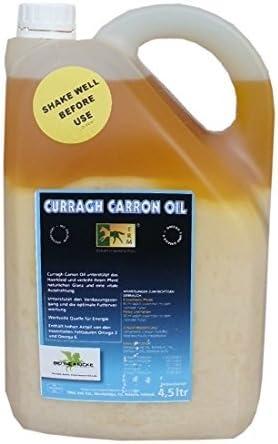 Caballos Curragh Carron Oil 4,5 Liter para brillo natural y brotes luminosidad con aceite de linaza Omega calcio EPAI 3 + DHA para vestido de piel y el pelo