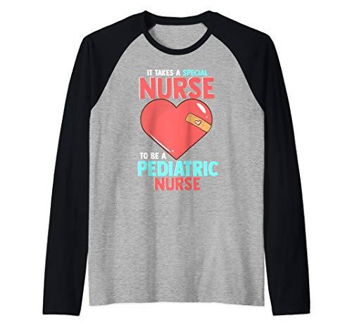 Pediatric Nursing Cute Nurse Gifts for Nurses  Raglan Baseball Tee