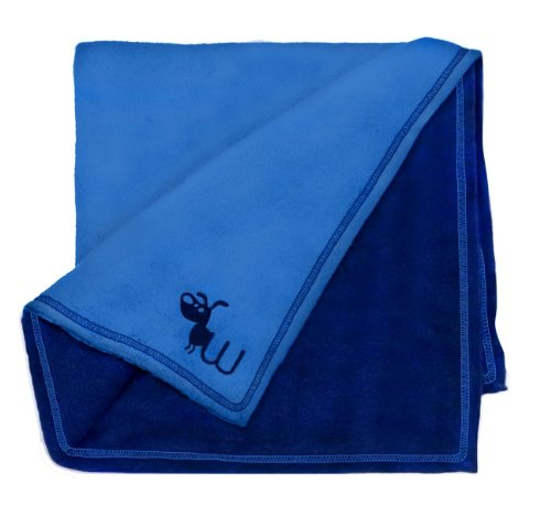 Waghearted Reversible Fleece Dog Blanket, Blue, My Pet Supplies