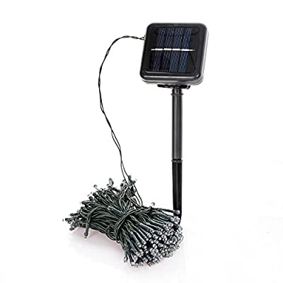 Saim 200 Cold White LED Outdoor String Light Solar Powered Rainproof Weatherproof Starry Fairy Lighting Christmas Light, Party and Holiday Decorations
