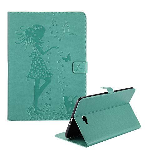 - Funyye Magnetic Flip Closure Case for Samsung Galaxy Tab A SM-T580,Luxury PU Leather Wallet with Credit Card Holder Slots Soft Silicone Ultra Thin Case for Galaxy Tab A 10.1(SM-T580/SM-T585),Green