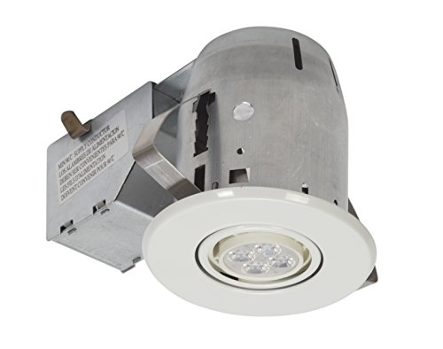 Recessed Lighting Upgrade : Globe electric quot led ic rated swivel spotlight recessed