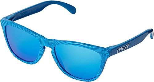 Oakley Men's Frogskins Sky Blue Fingerprint/Sapphire Iridium Sunglasses  One Size