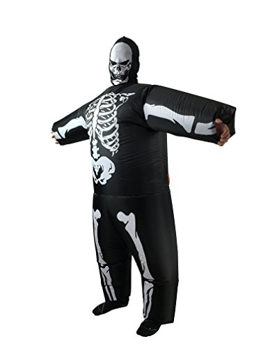 Skeleton Halloween Costume Inflatable Fancy Dress Costume Ghost Cosplay (Hollaween Costumes)