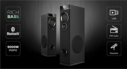 how to hook up tower speakers to tv