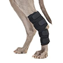 Back on Track 8.6-Inch Length by 7.8-Inch Top Width by 6-Inch Bottom Width Therapeutic Dog Rear Leg/Hock Brace with 4 Adjustable Velcro Straps