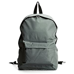 The Pecan Man Grey Unisex Satchel Travel School Bag Rucksack Canvas Stars Backpack