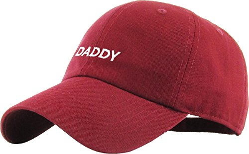 Polo Caps Baseball Hat - KBSV-084 BUR Daddy Dad Hat Baseball Cap Polo Style Adjustable