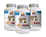 Dog Bad Breath Treats - Dog Teeth Health Care - Advanced Complex - Eliminate Bad Breath Plaque Build UP - Healthy Gums - Vitamin c for Dogs Pills - 180 Tablets (3 Bottles)