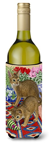 Caroline's Treasures Abyssinian Kitten Wine Bottle for sale  Delivered anywhere in Canada