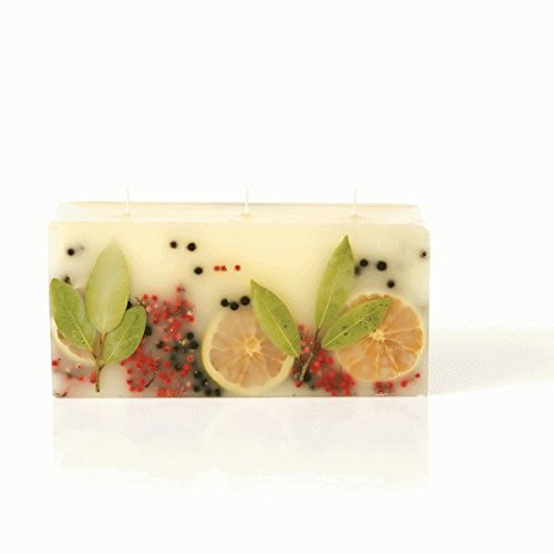 Rosy Ring 3 Wick Brick Botanical Candle – Bay Garland