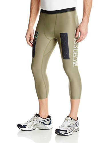 Reebok Men's Cross Fit Compression 3/4 Pants, Canopy Green, Small