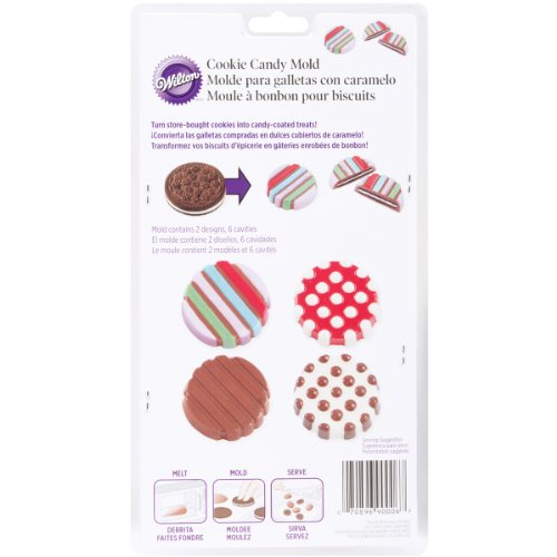(Wilton Dot/Stripe Cookie Candy Mold (2115-0006))