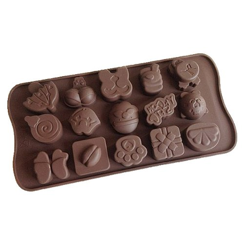 Silica Gel 15 Holes Animal Cake Mold by AC2