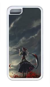5C Case, iPhone 5C Case Galaxy Pattern Girl With Scythe Cute iPhone 5C Shoockproof White Soft Case Full Body Hybrid Impact Armor Defender Cover protective Case for iPhone 5C