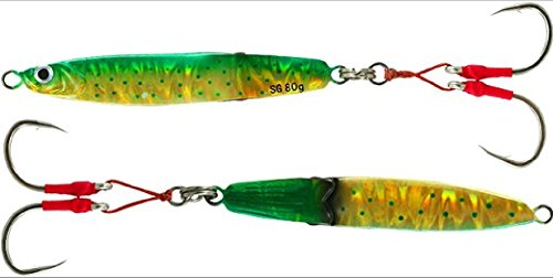 Savage Gear 130 Gram 4 1/2 inch Squish Erratic Fall Flutter Sinking Jig for Bottom Fishing (Dorado)