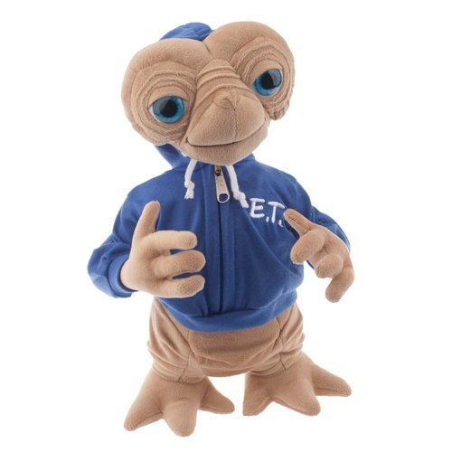 """Universal E.T. Extra Terrestrial with Blue Embossed Hoodie Sweatshirt 15"""" Plush Doll"""