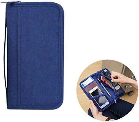Estuche de billetera para pasaporte, VORCOOL Estuche para billetera de viaje de viaje multifunción Documentos de identificación de la tarjeta de crédito Organizador de cremallera Estuche portateléfono: Amazon.es: Deportes y aire libre