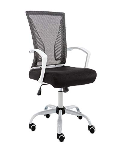 Modern Home Zuna Mid-Back Office Chair – White/Black