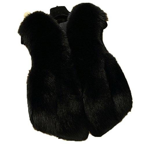 FOLOBE Child Faux Fox Fur Coat Jacket Waistcoat hot Winter Warm Gilet Kids Outwear Short Slim Vest]()