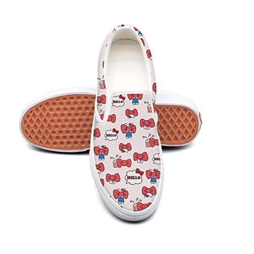 (Cute cat kittens Womens Canvas Sneakers Slip-On Classic)