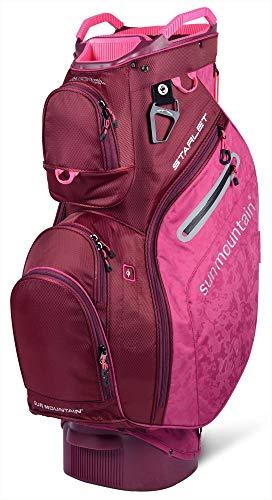 Sun Mountain Golf 2019 Starlet Women Cart Bag - Berry-Merlot ()