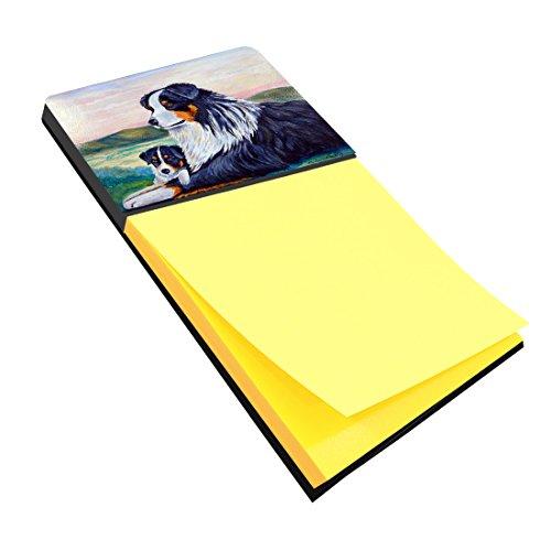Caroline's Treasures 7511SN Australian Shepherd Refillable Sticky Note Holder or Postit Note Dispenser, 3.25 by 5.5
