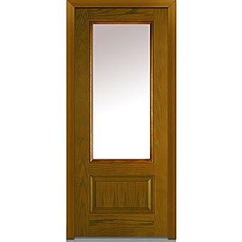 National Door Company Z000200R Fiberglass/Oak Prehung Right Hand Inswing Entry  Door, 3/