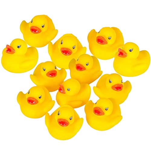 Liberty Imports Mini Rubber Ducks Duckie Baby Shower Birthday Party Favors (1.5 inches, 12 Pack) -