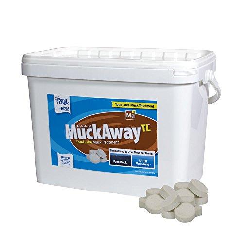 (Pond Logic MuckAway Total Lake Muck Reducer Pellets, 36 lbs)