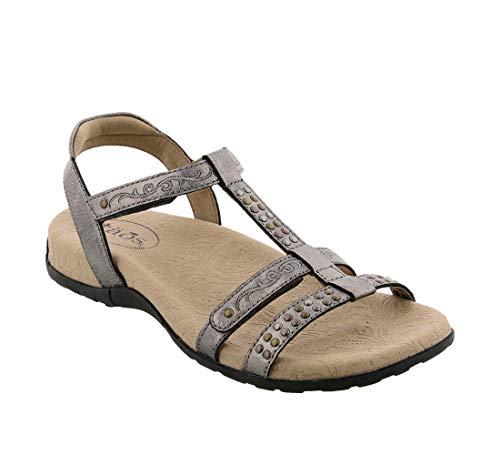 Taos Footwear Women's Award Pewter Sandal 11 M US