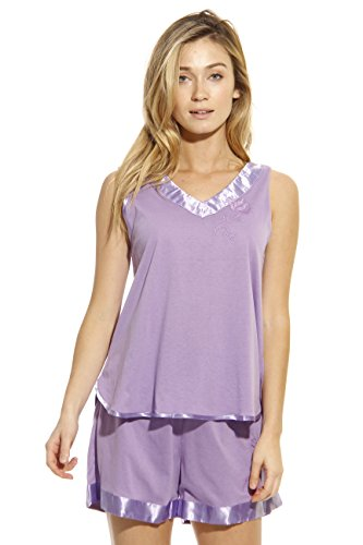 1531-PUR-M Dreamcrest Short Sets / Women Sleepwear / Womans Pajamas,Purple,Medium by Dream Crest (Image #3)