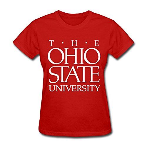 XY-TEE Women's T Shirt Ohio State University Columbus Red Size L