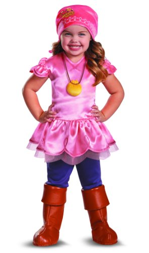 Disguise Girl's Disney Junior Jake and The Neverland Pirates Izzy Deluxe Costume, 3T-4T (Jake Toddler Costume)