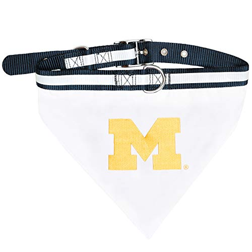 Jersey Dog Michigan Wolverines - Pets First Collegiate Pet Accessories, Collar Bandana, Michigan Wolverines, Medium