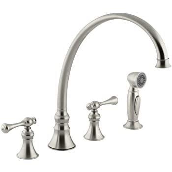 Kohler K 377 4m Bn Finial Traditional Kitchen Sink Faucet