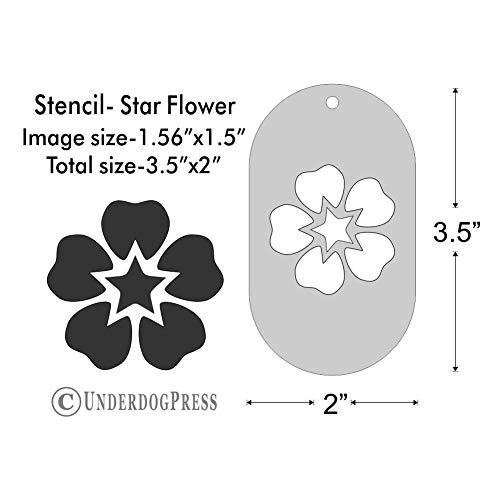 Stencil - Star Flower, Medium