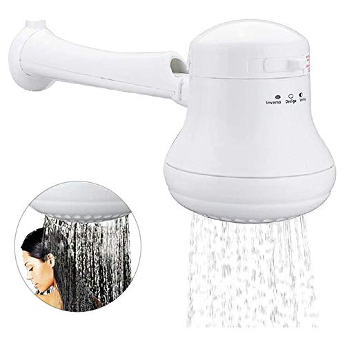 New Electric Shower Head Heater Instant Hot Water Heater Bath with Wall Support/Tube Plastic Pipe Three Water Temperature Control