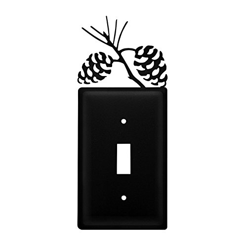 Iron Pine Cone Switch Cover - Heavy Duty Metal Light Switch Cover, Electrical Outlet Covers, Lightswitch Covers, Wall Plate Cover ()