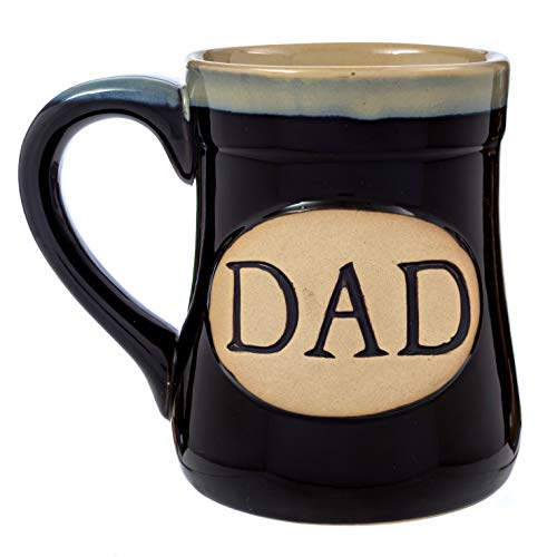 Dad Coffee Mug Cup - Porcelain Father Gift - Large for Men 18 Ounce - My Claim to Joy Love and Legacy - Black