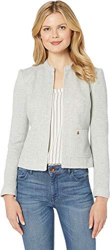 Tommy Hilfiger Women's Open Short Sweatshirt Jacket Grey/Midnight 14 (Tommy Womens Jacket Hilfiger Fashion)