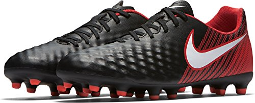 Magista Ola II FG Football Boots - Black/White/Red