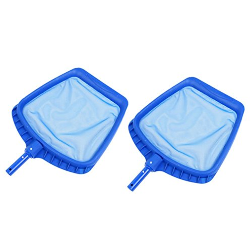 Sacow Pool Leaf Skimmer Net, 2pc Heavy Duty Leaf Skimmer Molded Frame and Snap Adapt Handle (A) by Sacow