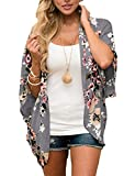 Womens-Casual-Floral-Kimono-Jacket-Summer-Cardigan-Shawl-Blouse-Top-Large-Deep-Gray-Large