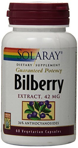 Solaray Bilberry Extract, 42mg, 60 Count by (Solaray Bilberry Extract)