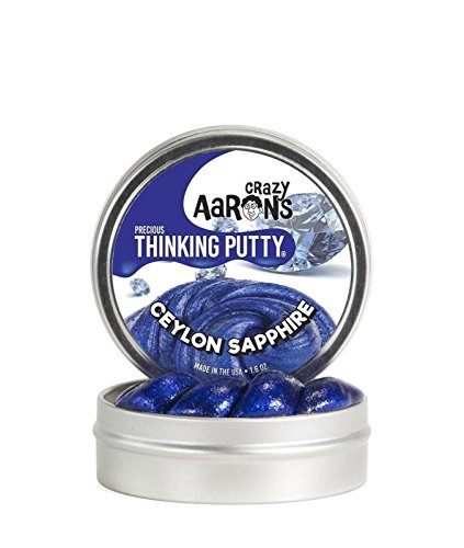 - Ceylon Sapphire Blue Precious Gems Crazy Aaron's Thinking Putty tin New 1.6 Oz, Made in USA, Age 6+