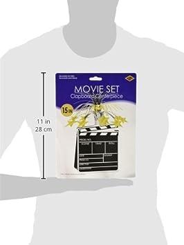Beistle 50157 1-Pack Movie Set Clapboard Centerpiece