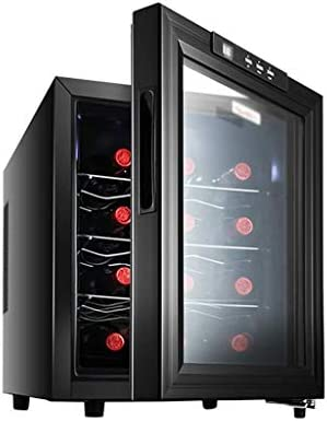 Refrigerador Enfriador de Vino - Encimera de Vino Tinto Blanco Refrigerador Enfriador de Vino - Independiente - Botón táctil - Pantalla LED Enfriador de Vino para 12 Botellas